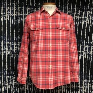 Guc Polo naval Plaid officer shirt size M